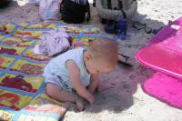 Grace Eating Sand